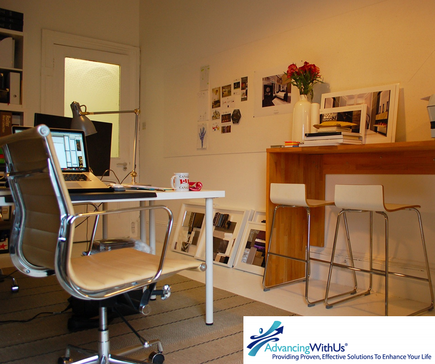 home office with AdvancingWithUs
