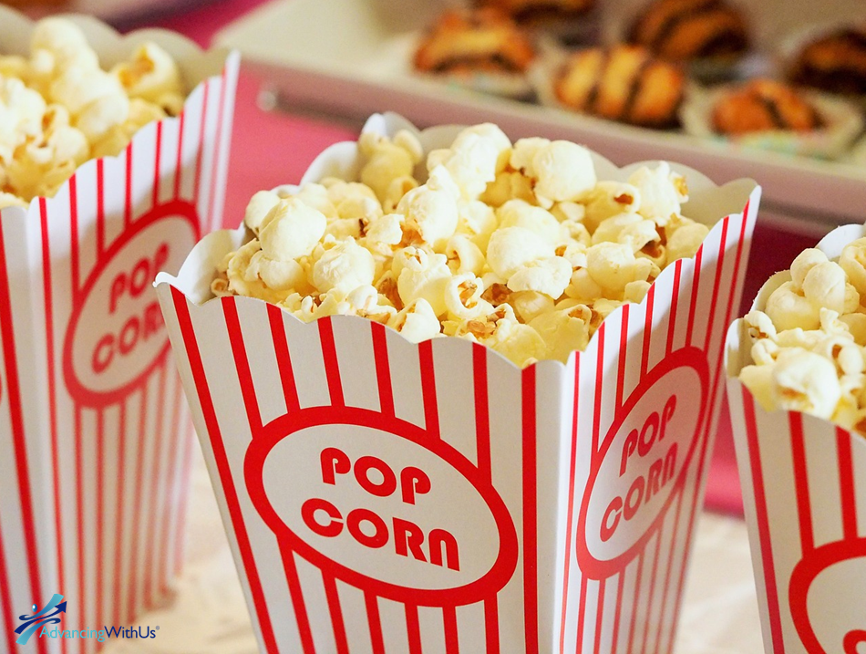 Popcorn to watch with inspirational movies