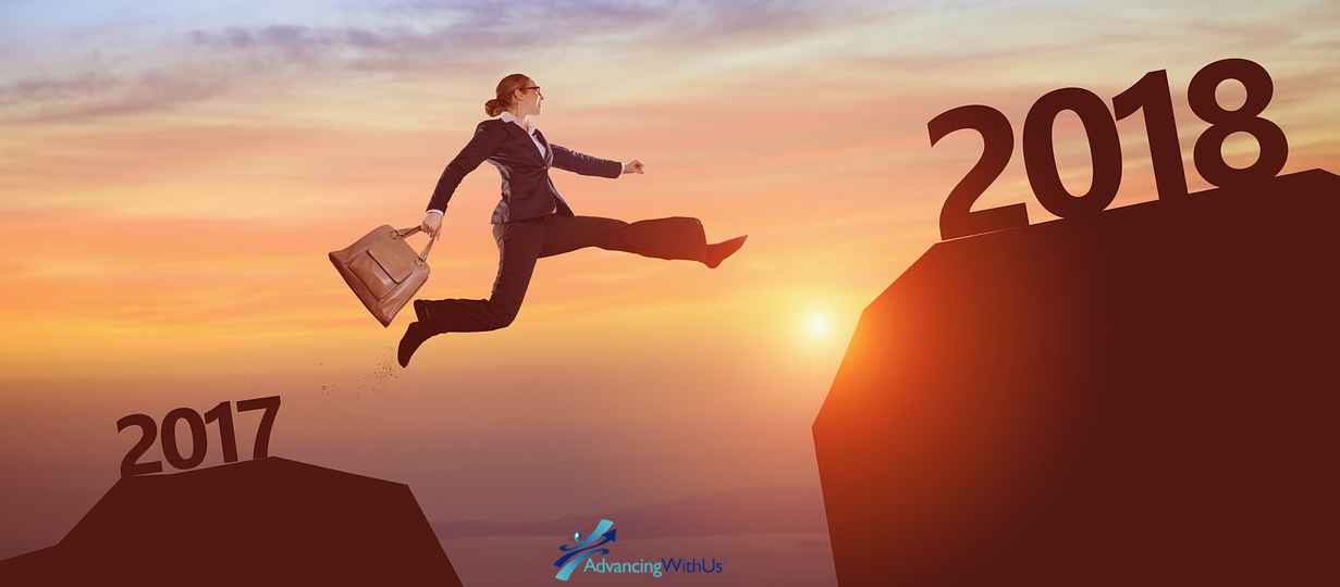 jumping from 2017 to 2018 year in business