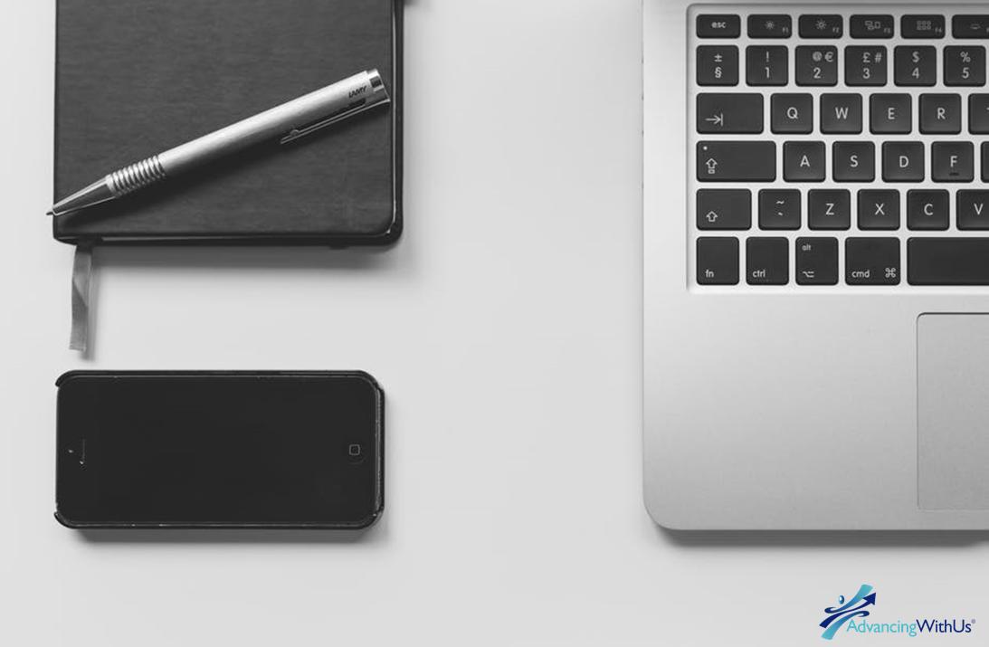 Computer, phone, tools to write blog