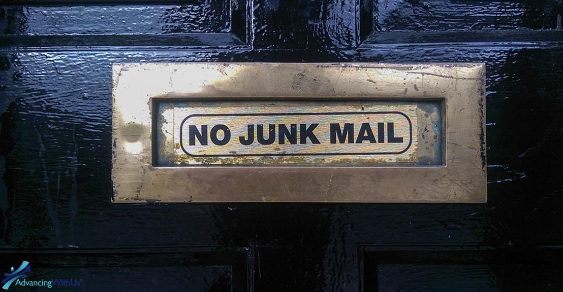 Junk mail slot